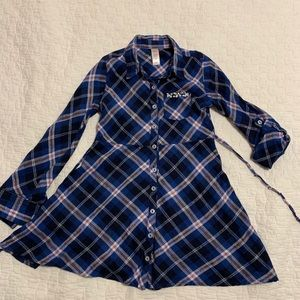 5 for $20 Justice Plaid Flannel Shirt Dress